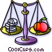 scale with vitamins and Vector Clip Art graphic