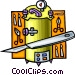 scalpel with surgery equipment Vector Clipart picture