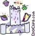 European castle Vector Clip Art graphic