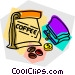 coffee beans and a change Vector Clipart graphic