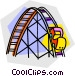 roller coaster rides Vector Clipart picture