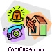 house on fire Vector Clip Art image