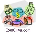 Insurance papers Vector Clip Art graphic