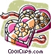 box of chocolates Vector Clip Art image