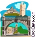 Parliament in Bridgetown Vector Clip Art image