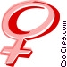female symbol Vector Clip Art graphic