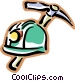 miners helmet with a pick axe Vector Clipart picture