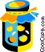jar of preservers Vector Clip Art graphic