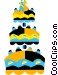 Wedding cake Vector Clipart image