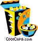 popcorn Vector Clipart graphic
