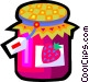 strawberry preserves Vector Clipart image
