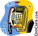 telephone Vector Clip Art graphic