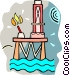 off shore oil well Vector Clipart graphic