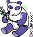 panda bear Vector Clipart image