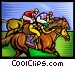 Horse racing Vector Clip Art picture