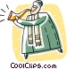 person blowing a horn Vector Clipart graphic