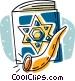 star of David, book of David Vector Clipart illustration