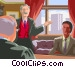 lawyers meeting in the judges Vector Clip Art image