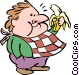 Man eating a banana Vector Clip Art image