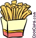 box of French fries Vector Clipart picture