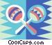 maracas Vector Clipart graphic