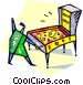person playing pinball Vector Clipart illustration