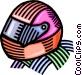 crash helmets Vector Clipart illustration
