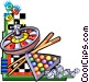 various games of chance Vector Clipart picture