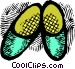 pair of slippers Vector Clipart graphic