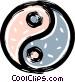 ying yang Vector Clip Art image
