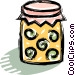 jar of preserves Vector Clipart image