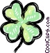 4 leaf clover Vector Clipart image