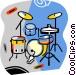 drum set Vector Clipart picture