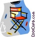 directors chair Vector Clipart graphic