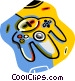 video game controller Vector Clipart image