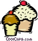 cup cakes Vector Clip Art picture