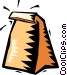 brown lunch bag Vector Clip Art picture