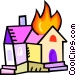 House on fire Vector Clipart graphic