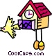 coo coo clocks Vector Clipart illustration