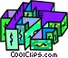 money maze Vector Clipart illustration