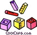 putting pegs in the proper Vector Clipart image
