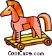 wooden horse Vector Clipart illustration