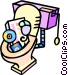 computer equipment down the toilet Vector Clip Art image