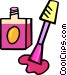 bottle of nail polish Vector Clip Art picture