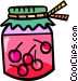 jar of cherry preserves Vector Clipart picture