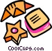 cookies and croissant Vector Clipart illustration