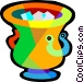 ice bucket Vector Clip Art image