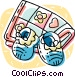 slippers and blankets Vector Clipart graphic