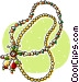 Christmas beads Vector Clipart picture