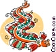 Chinese paper dragons Vector Clipart picture